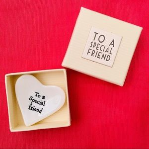 To A Special Friend Heart Dish in Gift Box